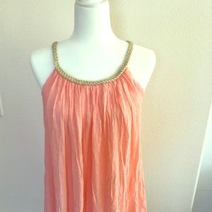 Pink and gold swimsuit coverup